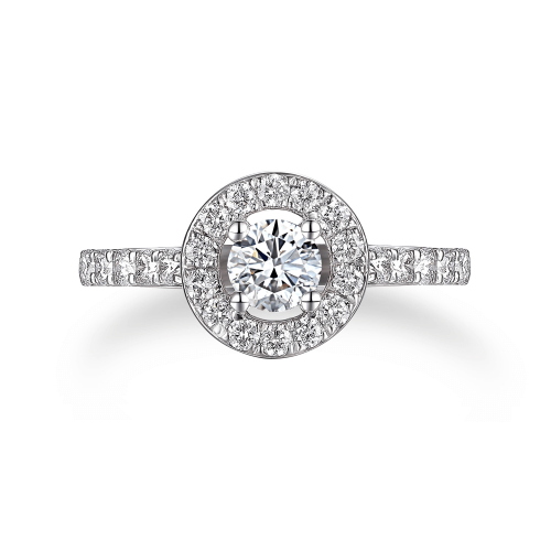 Solitaire Diamant Halo Wandy