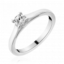 Solitaire or blanc diamant Cassidy