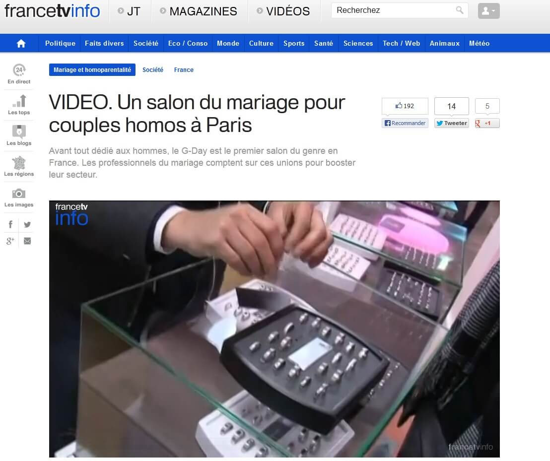Video Salon Mariage Gat Paris Avril 2013